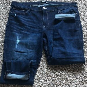 Express Jeans - Express Distressed Mid Rise Ankle Skinny's Sz 18 S